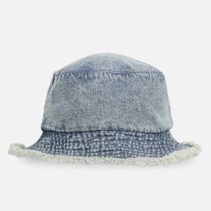 New Bella bucket hat jean frayed hem
